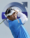 SUZHOU, CHINA - APRIL 16:  Y.E. Yang of  Korea tees off on the 16th hole during the Round Two of the Volvo China Open on April 16, 2010 in Suzhou, China.  Photo by Victor Fraile / The Power of Sport Images