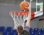 Der Ball auf dem Weg in den Korb  beim Spiel in der BARMER 2. Basketball Bundesliga Pro A, MLP Academics Heidelberg - Ehingen Urspring.<br /> <br /> Foto © PIX-Sportfotos *** Foto ist honorarpflichtig! *** Auf Anfrage in hoeherer Qualitaet/Aufloesung. Belegexemplar erbeten. Veroeffentlichung ausschliesslich fuer journalistisch-publizistische Zwecke. For editorial use only.