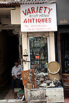 MUMBAI, INDIA - SEPTEMBER 27, 2010: One of the many antiques shops on Mutton Street at Chor Bazaar in the Muslim quarter of Mumbai. The Taj Mahal Palace and Tower Hotel has re-opened after the terror attacks of 2008 destroyed much of the heritage wing. The wing has been renovated and the hotel is once again the shining jewel of Mumbai. pic Graham Crouch