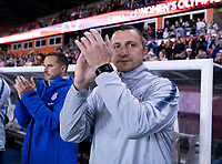 HOUSTON, TX - JANUARY 31: Vlatko Andonovski of the United States applauds during a game between Panama and USWNT at BBVA Stadium on January 31, 2020 in Houston, Texas.