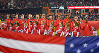 HOUSTON, TX - JANUARY 31: United States starting eleven during a game between Panama and USWNT at BBVA Stadium on January 31, 2020 in Houston, Texas.