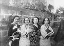 Syria 1936 .In Damascus, Djelila, Nezyeha, Ruchen and Zeynab, family Bedir Khan  .Syrie 1936 .A Damas, Djelila, Nezyeha,Ruchen et Zeynab, famille Bedir Khan