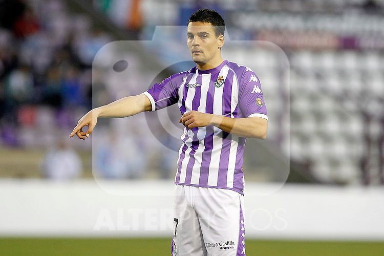 Real Valladolid's Carlos Gonzalez Pena during Spanish 2th Division match.March 3,2012. (ALTERPHOTOS/Acero)