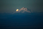 Moonrise behind Mt. Redoubt, Aleutian Range, Alaska, USA<br /> <br /> Canon EOS-1D X, EF70-200mm f/2.8L IS II USM lens, f/2.8 for 1/125 second, ISO 8000