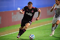 LAKE BUENA VISTA, FL - JULY 27: Jordan Morris #13 of the Seattle Sounders dribbles the ball during a game between Seattle Sounders FC and Los Angeles FC at ESPN Wide World of Sports on July 27, 2020 in Lake Buena Vista, Florida.