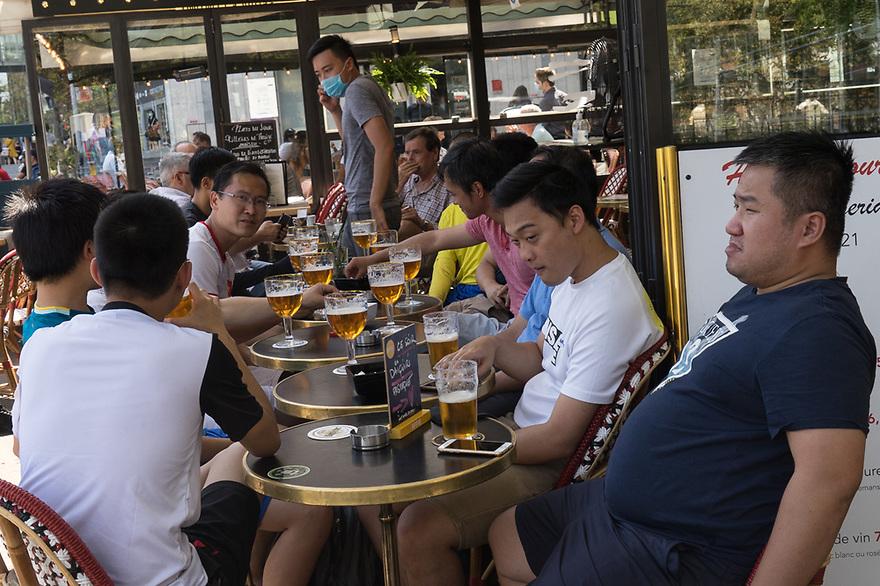 Parigi 8 agosto 2020. In viaggio verso la Bretagna e il Supertramp. Place d'Italiè, Cafè Margeride.