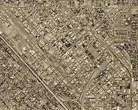 historical aerial photograph Fresno, 1972