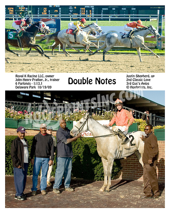 Double Notes winning at Delaware Park on 10/19/09