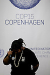 """Leah Wickham, from Fiji, breaks into tears on the opening day of the Copenhagen summit.  TckTckTck - an unprecedented alliance of civil society organisations - delivered its petition which more than 10 million people have signed, calling for world leaders to seal a fair, ambitious and binding climate deal at the talks. 15 young people from around the world held large scale """"building blocks"""" which spell out """"10 million people expect a fair, ambitious and binding deal"""" to show world leaders that all the elements required for an effective climate treaty are present. Young people from around the world handed over the petition to UNFCCC Executive Secretary Yvo de Boer and Danish Climate Minister and the President of COP15 Connie Hedegaard. Leah Wickham, from Fiji, spoke briefly on behalf of the 10 million people expecting a real deal at Copenhagen."""