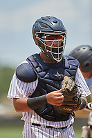 GCL Yankees West catcher Carlos Narvaez (14) during a game against the GCL Pirates on July 25, 2017 at Pirate City in Bradenton, Florida.  GCL Yankees West defeated the GCL Pirates 11-3.  (Mike Janes/Four Seam Images)
