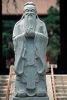 China, Peking, Statue des Konfuzius im Konfuziustempel