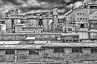 Abandoned cement factory in Drapetsona, Greece
