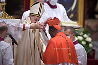 Cardinal Antoine Kambanda .Pope Francis leads a consistory for the creation of five new cardinals  at St Peter's basilica in Vatican.28 november 2020