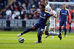 Coca-Cola Football League Championship - Swansea City v Cardiff City @ The Liberty Stadium in Swansea..Cardiff's Wayne Routeledge is chased by Darren Pratley of Swansea..