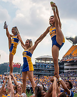 he Pitt cheerleaders perform during the game. The The Pitt cheerleaders perform during the game.Pitt Panthers defeated the UCF Knights 35-34 in a football game played at Heinz Field, Pittsburgh, Pennsylvania on September 21, 2019.