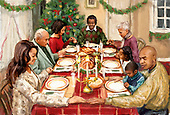 Marcello, CHRISTMAS LANDSCAPES, WEIHNACHTEN WINTERLANDSCHAFTEN, NAVIDAD PAISAJES DE INVIERNO, paintings+++++,ITMCXM1202,#xl#,prayer,dinner