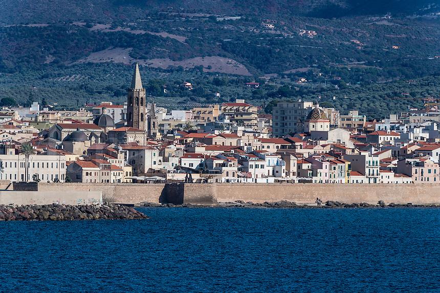 Cityscape of Alghero, Sardinia, Italy