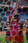 FC Barcelona's Ivan Rakitic celebrates the victory in the Spanish Kings Cup Final match. May 22,2016. (ALTERPHOTOS/Acero)