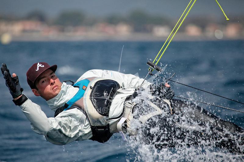 ISAF Sailing World Cup Hyères - Fédération Française de Voile. 470, Guillaume Pirouelle<br /> Valentin Sipan.