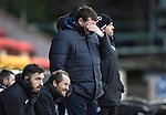 St Johnstone v Partick Thistle…11.02.17     Scottish Cup    McDiarmid Park<br />A bad day at the office for Tommy Wright<br />Picture by Graeme Hart.<br />Copyright Perthshire Picture Agency<br />Tel: 01738 623350  Mobile: 07990 594431