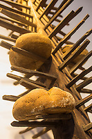 Italie, Val d'Aoste, fort de Bard, Museo delle Alpi (musée des Alpes) , pain de montagne  // Italy, Aosta Valley, Bard Fort, Museo delle Alpi (Alps Museum), mountain bread