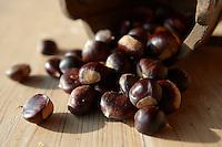 Fresh organic Chestnuts (Castanea sativa)