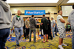 Players file into the Imperial Ballroom on Day 1A.
