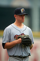 Scranton/Wilkes-Barre RailRiders pitcher Caleb Cotham (32) during a game against the Buffalo Bisons on June 10, 2015 at Coca-Cola Field in Buffalo, New York.  Scranton/Wilkes-Barre defeated Buffalo 7-2.  (Mike Janes/Four Seam Images)