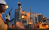 Planta cementoen Puerto Montt, Sur de Chile.