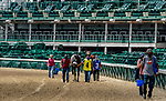 September 1, 2020: Horses walk over from the backside for the second race on opening day of Kentucky Derby Week at Churchill Downs in Louisville, Kentucky. Scott Serio/Eclipse Sportswire/CSM