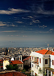 Overlooking the red roofs of Thessaloniki, Greece