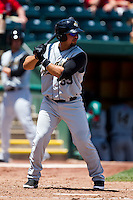 Eddy Rodriguez (33) of the San Antonio Missions at bat during a game against the Springfield Cardinals on May 30, 2011 at Hammons Field in Springfield, Missouri.  Photo By David Welker/Four Seam Images.