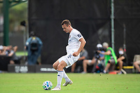 LAKE BUENA VISTA, FL - JULY 23: Boris Sekulic #2 of the Chicago Fire kicks the ball during a game between Chicago Fire and Vancouver Whitecaps at Wide World of Sports on July 23, 2020 in Lake Buena Vista, Florida.