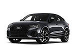 Stock pictures of low aggressive front three quarter view of 2020 Audi Q3-Sportsback S-Line 5 Door SUV Low Aggressive