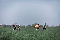 running to the next pavé....<br /> <br /> 116th Paris-Roubaix (1.UWT)<br /> 1 Day Race. Compiègne - Roubaix (257km)