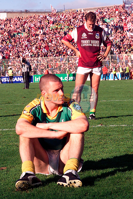 Meath players after thier defeat by Galway in the All Ireland Final at Croke Park..Picture: Paul Mohan/Newsfile