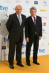 Culture Minister Wert and Enrique Cerezo  atend the Jose Maria Forque Awards Photocall in Madrid, Spain. January 12 2015. (ALTERPHOTOS/Carlos Dafonte)