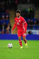 Tyler Roberts of Wales during the UEFA Nations League B match between Wales and Ireland at Cardiff City Stadium in Cardiff, Wales, UK.September 6, 2018