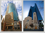 """Tabor Building (left) and Holy Ghost Church. From John's 5th book: """"Denver Colorado: A Photographic Portrait.""""<br /> From John's 5th book: """"Denver Colorado: A Photographic Portrait.""""<br /> Private photo tours of Denver by John. Click the above CONTACT button for inquiries. Denver Colorado tours."""