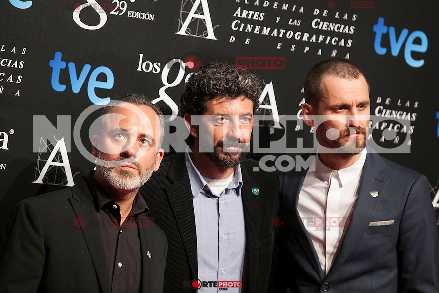 Javier Gutierrez and Raul Arevalo pose before the 2015 Goya Awards nominee ceremony in Madrid, Spain. January 19, 2015. (ALTERPHOTOS/Victor Blanco)