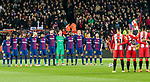 Teams line up prior to the La Liga 2017-18 match between FC Barcelona and Girona FC at Camp Nou on 24 February 2018 in Barcelona, Spain. Photo by Vicens Gimenez / Power Sport Images