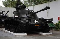 Ho Chi Minh city<br /> , Vietnam - 2007 File Photo -<br /> <br /> <br /> Captured US Army Tank on display at war museum.  <br /> <br /> <br /> photo : James Wong-  Images Distribution