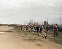 Iraq 1963 .On the way to Zakho, a column of peshmergas.Irak 1963.Rencontre avec une colonne de peshmergas pres de Zakho