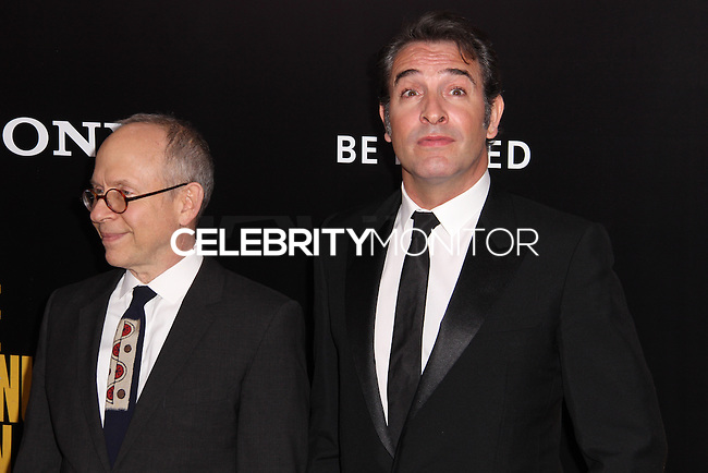 """NEW YORK, NY - FEBRUARY 04: Bob Balaban, Jean Dujardin at the New York Premiere Of Columbia Pictures' """"The Monuments Men"""" held at Ziegfeld Theater on February 4, 2014 in New York City, New York. (Photo by Jeffery Duran/Celebrity Monitor)"""