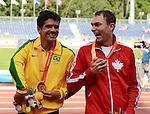 Kyle Whitehouse, Toronto 2015 - Para Athletics // Para-athlétisme.<br /> Kyle Whitehouse wins silver in the Men's 100m T38 Final // Kyle Whitehouse remporte l'argent dans la finale du 100 m T38 masculin. 11/08/2015.