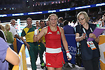 Glasgow 2014 Commonwealth Games<br /> <br /> Shelley Watts (Australia) leaves the ring after winning gold.<br /> <br /> 02.08.14<br /> ©Steve Pope-SPORTINGWALES