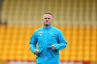 3rd October 2020; Carrow Road, Norwich, Norfolk, England, English Football League Championship Football, Norwich versus Derby; Wayne Rooney of Derby County during the warm up