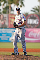 Scott Moviel (34) of the St. Lucie Mets during a game vs. the Daytona Cubs May 18 2010 at Jackie Robinson Ballpark in Daytona Beach, Florida. St. Lucie won the game against Daytona by the score of 4-1.  Photo By Scott Jontes/Four Seam Images