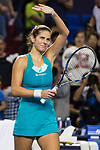 Julia Goerges of Germany celebrates winning the singles semi final match of the WTA Elite Trophy Zhuhai 2017 against Anastasija Sevastova of Latvia at Hengqin Tennis Center on November  04, 2017 in Zhuhai, China. Photo by Yu Chun Christopher Wong / Power Sport Images