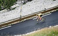 Tadej Pogacar (SVN/UAE-Emirates) coming down the Mont Ventoux on the last descent.<br /> <br /> Stage 11 from Sorgues to Malaucène (199km) running twice over the infamous Mont Ventoux<br /> 108th Tour de France 2021 (2.UWT)<br /> <br /> ©kramon